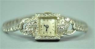 LADIES PLATINUM DIAMOND BRACELET WATCH 200CTW