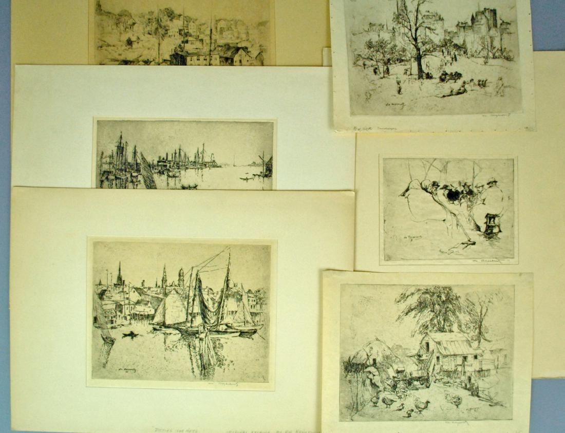 (6) MEYEROWITZ ETCHINGS AND A BERNSTEIN SKETCH