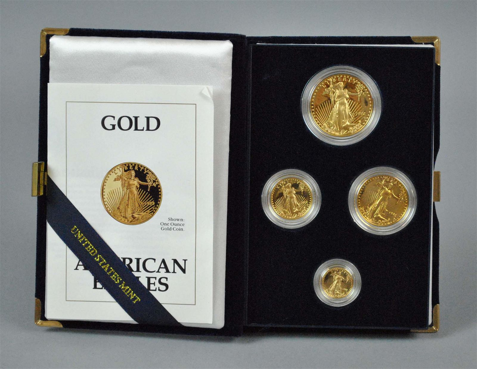 1992 AMERICAN EAGLE 4-COIN GOLD PROOF SET