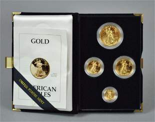 1993 AMERICAN EAGLE 4-COIN GOLD PROOF SET