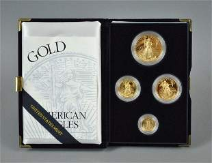 1996 AMERICAN EAGLE 4-COIN GOLD PROOF SET