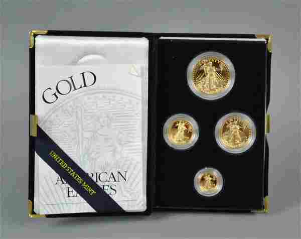 1998 AMERICAN EAGLE 4-COIN GOLD PROOF SET