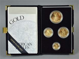 1999 AMERICAN EAGLE 4-COIN GOLD PROOF SET