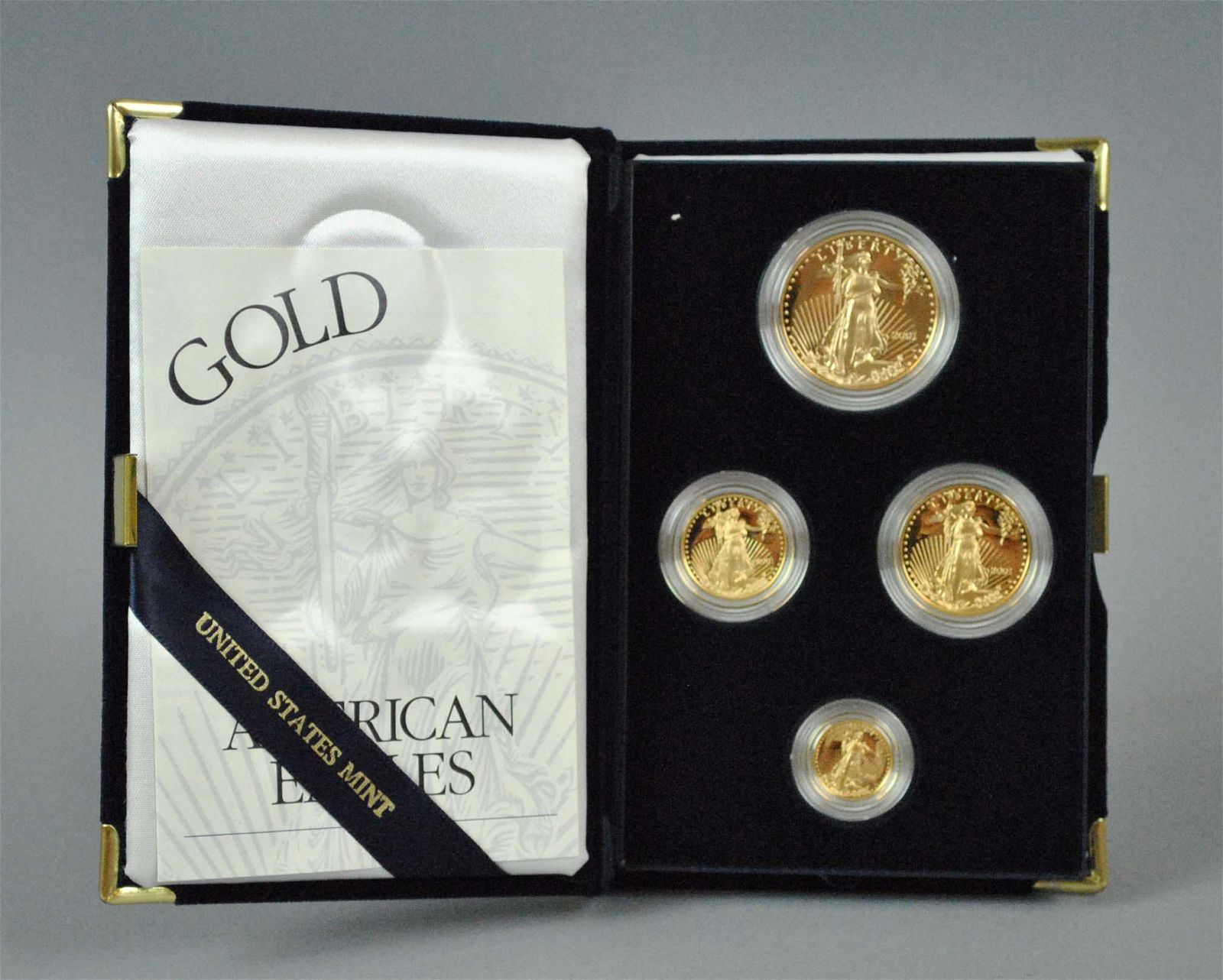 2001 AMERICAN EAGLE 4-COIN GOLD PROOF SET