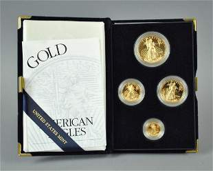 2002 AMERICAN EAGLE 4-COIN GOLD PROOF SET