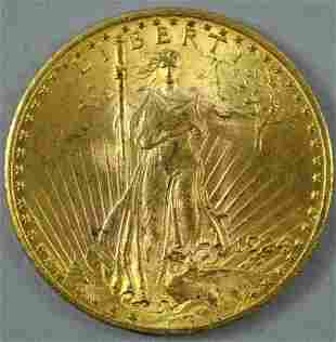 1924 $20 DOUBLE EAGLE US GOLD COIN
