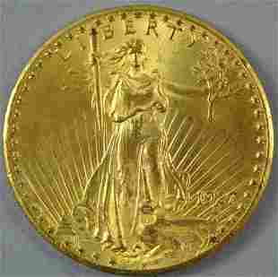1927 $20 DOUBLE EAGLE US GOLD COIN