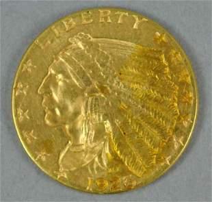 1926 $2.50 INDIAN HEAD QUARTER EAGLE US GOLD COIN