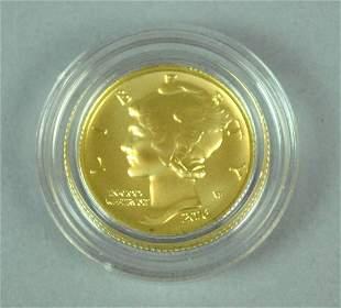 2016 US MERCURY CENTENIAL GOLD DIME
