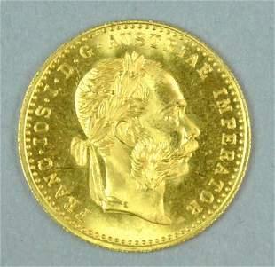 1915 AUSTRIAN DUCAT GOLD COIN