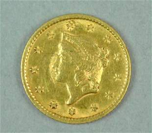 1853 US GOLD $1.00 COIN