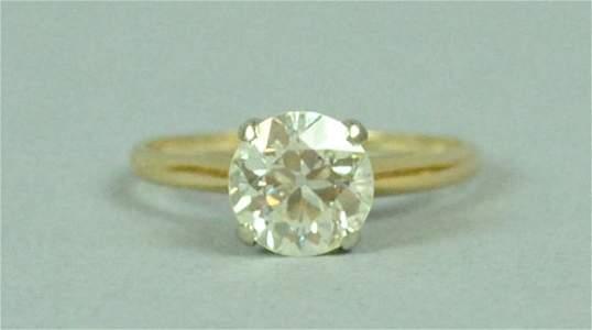 DIAMOND SOLITARE ENGAGEMENT RING, 1.85CT