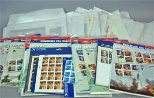 LARGE COLLECTION OF US COMMEMORATIVE STAMP SHEETS