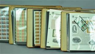 5PHILATELIC NOTEBOOKS OF COMMEMORATIVES SHEETS