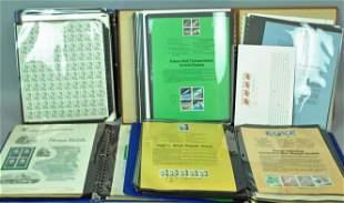 4PHILATELIC NOTEBOOKS OF COMMEMORATIVES SHEETS