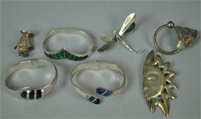 (7) PIECE MEXICAN STERLING JEWELRY GROUP