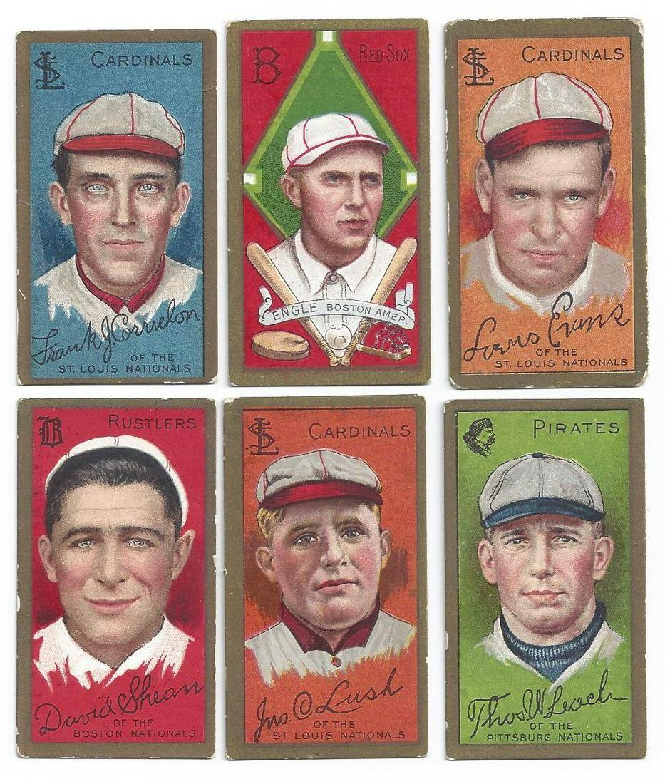(11) T205 GOLD BORDER 1911 BASEBALL TOBACCO CARDS
