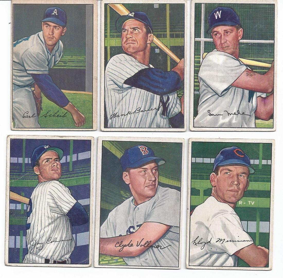 (15) BOWMAN 1951 & 1952 SERIES BASEBALL CARDS