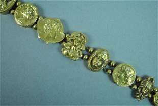 ART NOUVEAU SLIDE BRACELET WITH DIAMOND ACCENTS