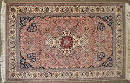 PERSIAN STYLE WOOL CARPET, 6.5 X 4.1