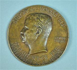 THEODORE ROOSEVELT PRESIDENTIAL INAUGURAL MEDAL