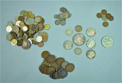 GROUP OF US & INTERNATIONAL COINS - MANY SILVER