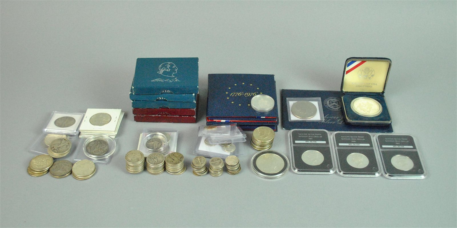 MIXED GROUP US SILVER COINS