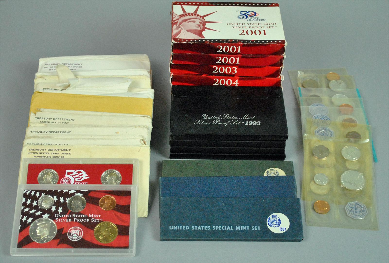 (26) US SILVER UNCIRCULATED & PROOF MINT SETS