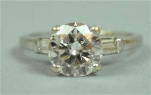 PLATINUM & DIAMOND ENGAGEMENT RING, 2.00CT