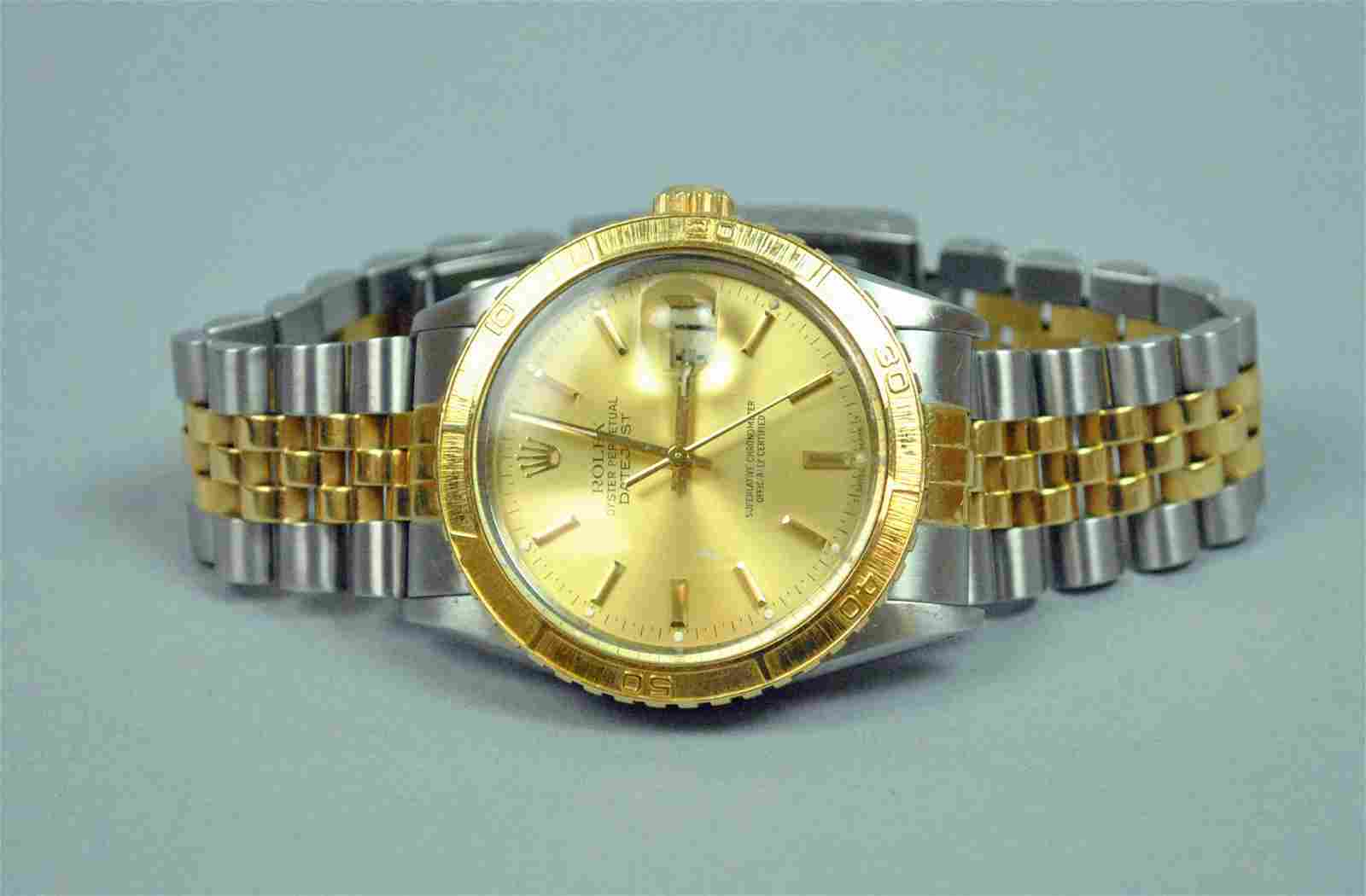 ROLEX 18K/SS OYSTER PERPETUAL DATEJUST WATCH