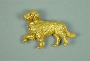 18K TIFFANY & CO. DOG PIN