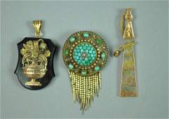 (3) PIECE VICTORIAN GOLD JEWLERY GROUP