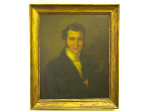 11: AMERICAN BUST PORTRAIT PAINTING OF A GENT