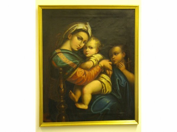 """12: MADONNA OF THE CHAIR"""" AFTER RAPHAEL"""""""