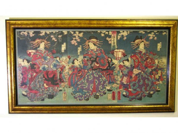 18: JAPANESE WOODCUT TRIPTYCH