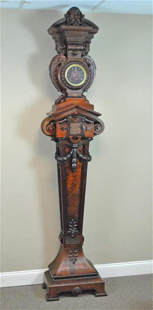 G. HERTER EXQUISTELY CARVED TALL CASE CLOCK