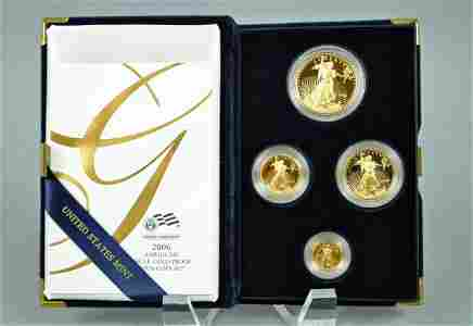 2006 AMERICAN EAGLE 4-COIN GOLD PROOF SET