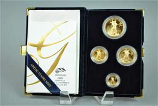 2005 AMERICAN EAGLE 4-COIN GOLD PROOF SET