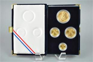 1990 AMERICAN EAGLE 4-COIN GOLD PROOF SET