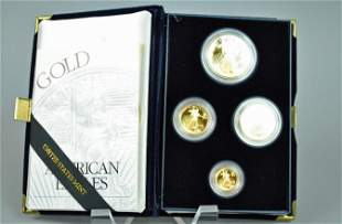 1994 AMERICAN EAGLE 4-COIN GOLD PROOF SET