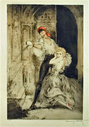 LOUIS ICART ETCHING - DON JUAN