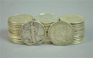 (41) US SILVER HALF DOLLAR COINS