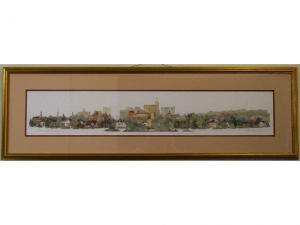 LEONARD WEBER TOWNSCAPE, WHITE PLAINS, NEW YORK