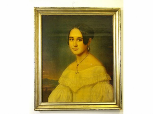 AMERICAN-STYLE BUST PORTRAIT OF A YOUNG WOMAN