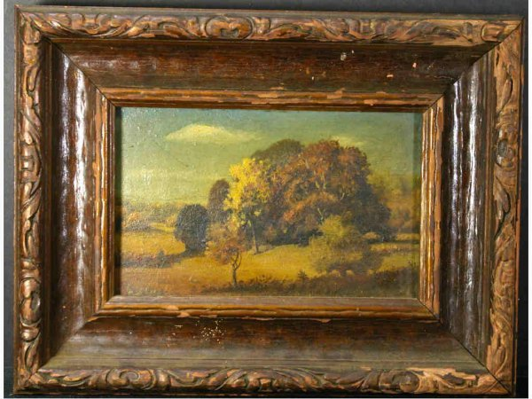 TREED LANDSCAPE PAINTING OF SMALL SIZE