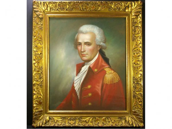PASTEL PORTRAIT OF A GENT IN POWDERED WIG