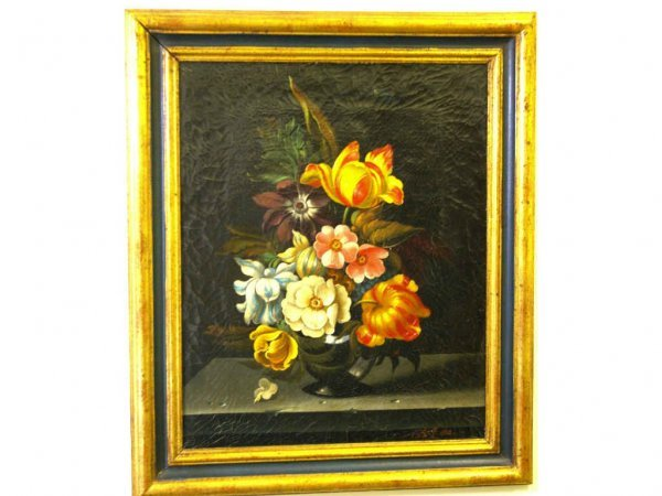 CONTEMPORARY FLORAL STILL LIFE PAINTING