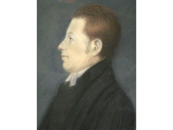 5: PASTEL PORTRAIT OF A GENT IN BLACK COAT
