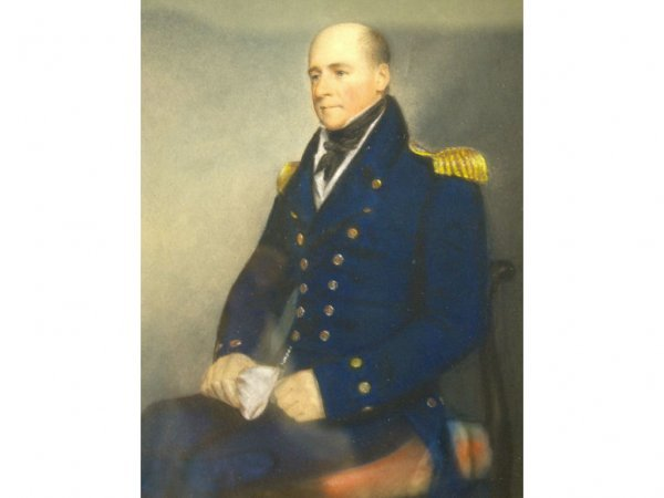 6: PASTEL PORTRAIT OF A MILITARY OFFICER