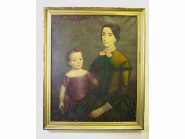 20: AMERICAN PORTRAIT OF MOTHER AND CHILD